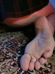 Getragene Unterwäsche Socken und Fussbilder