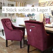 4 Stück luxuriöse Polsterstühle Esstischstühle