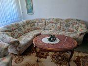 Couchgarnitur mit Sessel und Fuss-