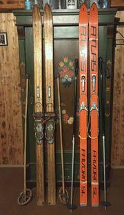 Ski 1960er Jahre 2 Paar