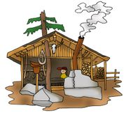 SUCHE Hütte in den Bergen