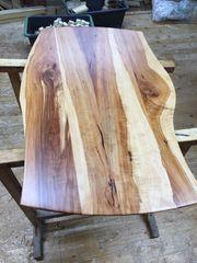 Tischplatte aus Birnenholz
