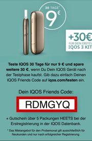 IQOS Testangebot für 9 30