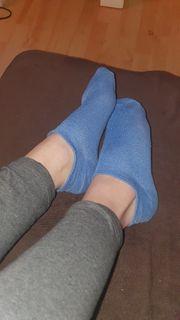 Socken getragen