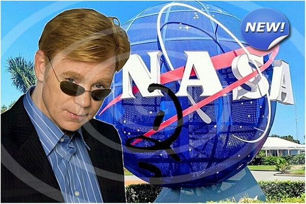DAVID CARUSO NASA Souvenir signiert