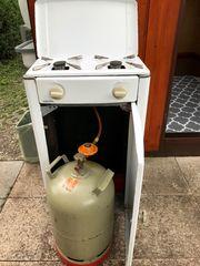 Für Gartenhaus 2-flammiger Gasherd hinten