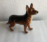 Deutscher Schäferhund Porzellanfigur der Manufaktur