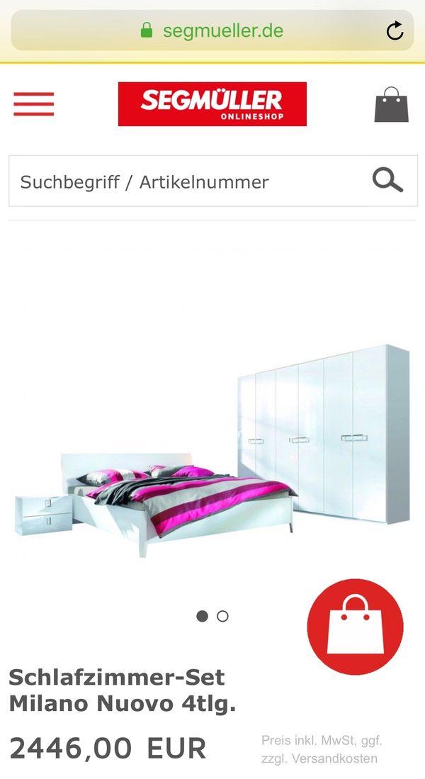 Schlafzimmer Hochglanzlack Weiss Set Bett Lattenrost Matratze Neu In