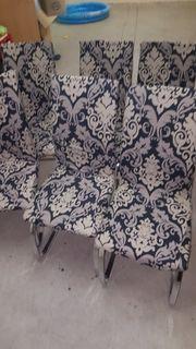 Verkaufe Stühle mit Stuhlhussen