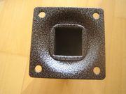 4x Möbelfuß Tischbein Metall schwarz
