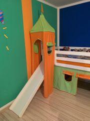 Kinderhochbett mit Rutschbahn incl Lattenrost