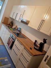 Küche mit Eiche Vollholzplatte