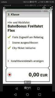 DB Ticket Freifahrt Token