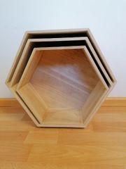 Wandregal - 3er Hexagon