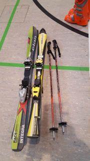 Kinderski von elan und Skistöcke