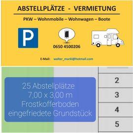 Wohnmobile - ABSTELLPLÄTZE - PKW - Wohnmobile - Wohnwägen - Boote -