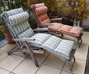 Zwei Deckchairs von Teak Garden