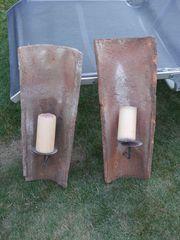 Kerzenhalter aus antiken Dachziegeln