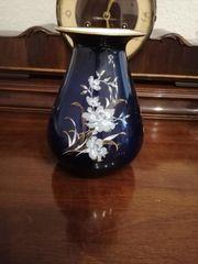 Vase in Kobaltblau Mittenteich Porzellan