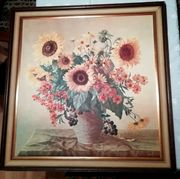 Sonnenblumenbild im Rahmen