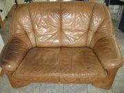 Couch Zweisitzer aus Vollleder Rind