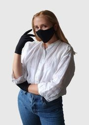 Kombi-Set Mund- und Nasenmaske Handschuhe