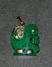 Kleiner Elefanten-Anhänger - grün - ca 2