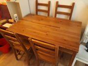 Essplatzgruppe Tisch und 4 Stühle