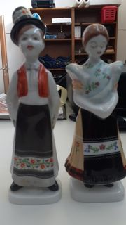 Porzellan - Figuren von Hollohaza Hungary -