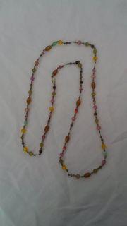 Modeschmuck Kette mit bunten Perlen