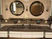 Doppelwaschbecken mit Schubladen 2 Ablagen