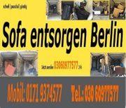 Sofa entsorgen Berlin Pauschalservice günstig