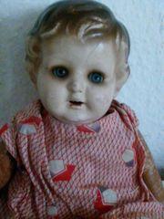 Antike Spielzeug - Puppe mit Schlafaugen
