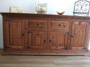 4-türiges Sideboard rustikal-Antik-Style mahagoni Echtholz