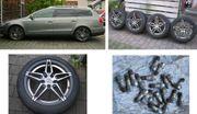Alufelgen mit Sommerreifen für VW