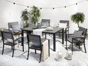 Gartenmöbel Set Kunstholz grau 6-Sitzer