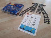 Lego 9V Eisenbahn Weichen Kurven