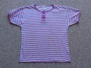 Kinderbekleidung Shirt T-Shirt lila-weiß-gestreift Gr