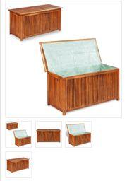 Garten-Aufbewahrungsbox Massives Akazienholz 117 x