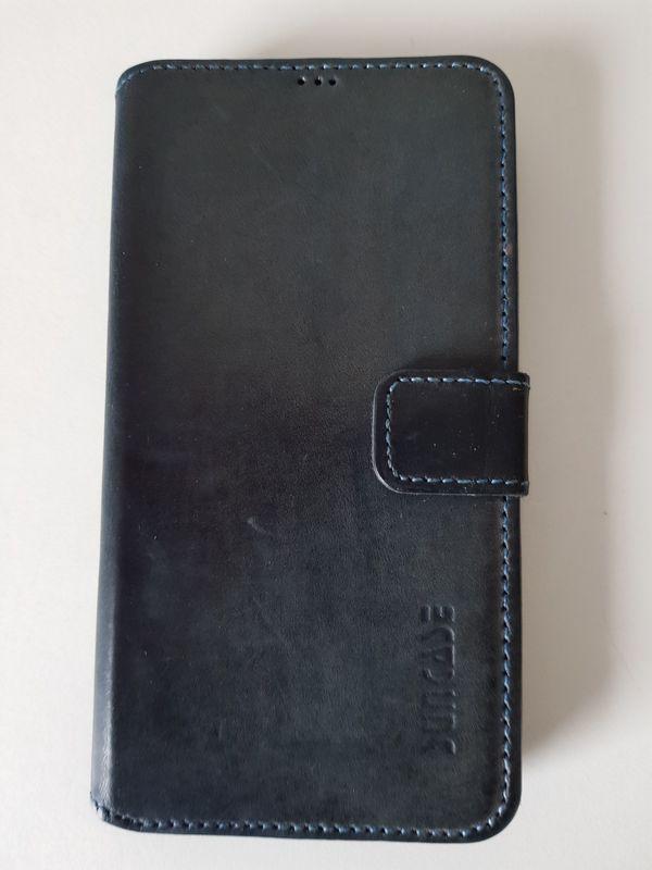 Samsung S5 Lederhülle Blau SUNCASE