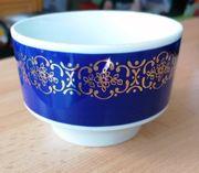 Kobaltblaue Schale mit Goldbordüre COLDITZ