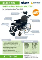 Pflegerollstuhl Rollstuhl Multifunktionsrollstuhl Neuware