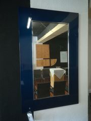 Designspiegel Metallic blau