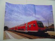 Poster DB Eisenbahn Doppelstockzug Alb-Bodensee