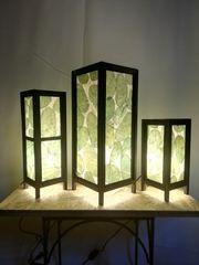 Lampe 3-er Set weiß grün