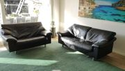 Echtleder Couchgarnitur 2 Sitzer und