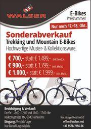 Sonderabverkauf hochwertige E-Bikes - letzte Chance
