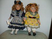 2 Porzellan-Puppen Künstler-Puppen von Thelma