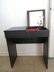 Ikea Brimnes Frisiertisch Schminktisch schwarz