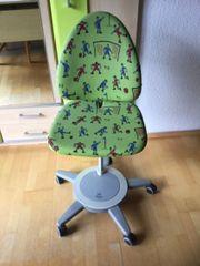 Moll Maximo Kinderschreibtischstuhl grün Fußball-Design
